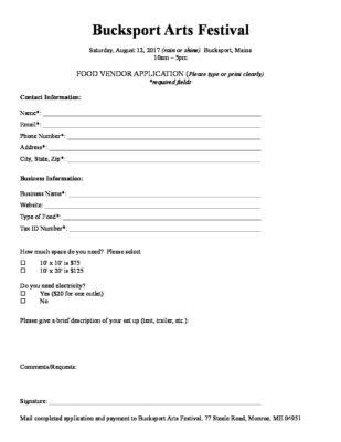 vendor application